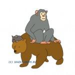 медведь, обезьяна и мышь